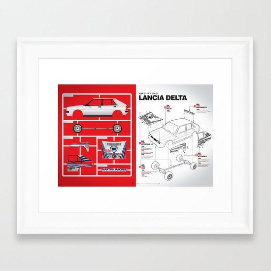 Lancia Delta History Model Kit in the WRC Framed Art Print
