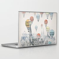 red Laptop & iPad Skins featuring Voyages over Edinburgh by David Fleck