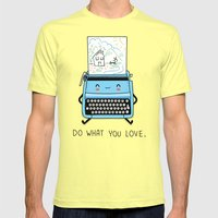 Do what you love Mens Fitted Tee Lemon SMALL