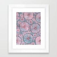 Abstract Floral Circles 3 Framed Art Print
