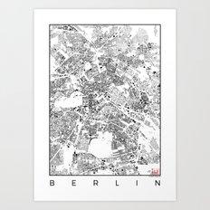 Berlin Map Schwarzplan O… Art Print