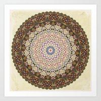 Vintage Textile YoYo Qui… Art Print