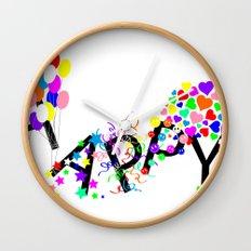 Just Happy Wall Clock