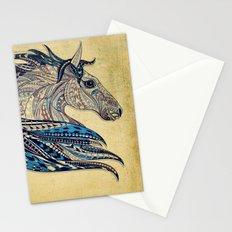Grunge Ethnic Horse Stationery Cards