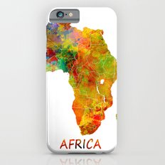 Africa Map Colored iPhone 6 Slim Case