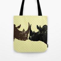Bull Rhinos Tote Bag