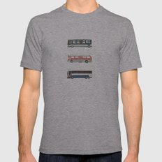 Buses Mens Fitted Tee Athletic Grey SMALL
