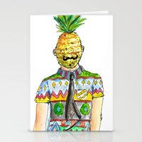 Mr. Pineapple Stationery Cards