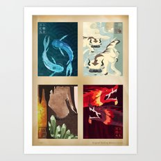 Original Bending Masters Series Art Print
