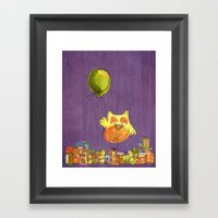 Flying Owl Framed Art Print