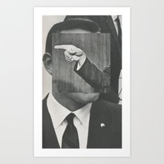 politics as usual Art Print