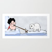 Saving The Polar Bears Art Print