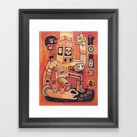Esclaves Des Robots... N… Framed Art Print
