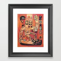 Esclaves Des Robots... N… Framed Art Print