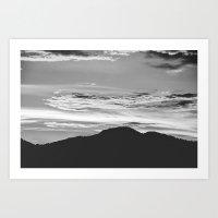 Mountain And Sky Art Print