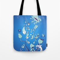 Aquatic Creatures Tote Bag