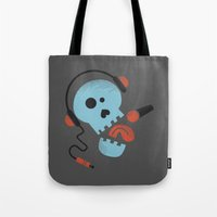 Calavera rockera / Rocking skull Tote Bag