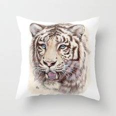 White Tiger 909 Throw Pillow
