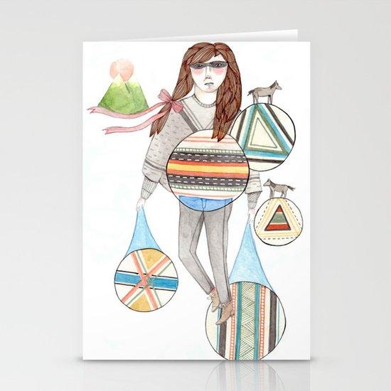 Patterns/Circles Stationery Card