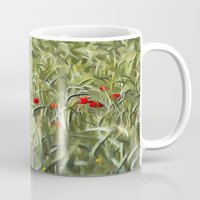 Cornfield Poppy Landscape Mug