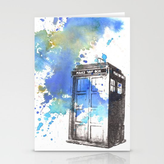 Doctor Who Tardis Stationery Card