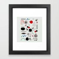 Mushroom Berries Nuts An… Framed Art Print