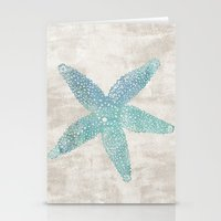 Aqua Starfish Stationery Cards
