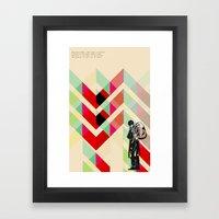Ian Curtis from Joy division Framed Art Print