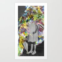 A Glitzy Girl Art Print