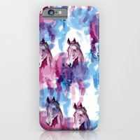 iPhone & iPod Case featuring Two horses by Sonia B