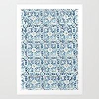 Tile Pattern IV - Azulej… Art Print