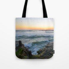 Mossy Cliffs in Ocean Beach  Tote Bag