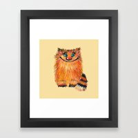 Funny Cat -Nafaniya  Framed Art Print