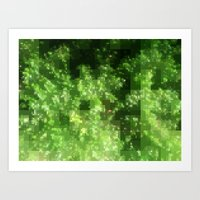 Digital Pointillism Art Print