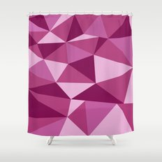 Pink Geometric Shower Curtain