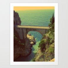 Bridge in Amalfi Coast, Italy Art Print