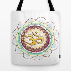 Radiating Om Tote Bag