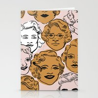 1950s In Pink & Gold Stationery Cards