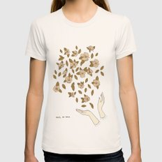 They'll be Back  Womens Fitted Tee Natural SMALL