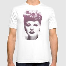 Lucille Ball White SMALL Mens Fitted Tee