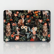 Cat and Floral Pattern II iPad Case