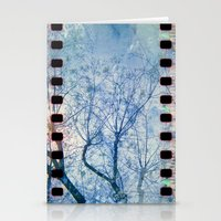 Blue Winter Blossoms  Stationery Cards