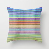 Stripes I Throw Pillow