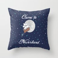 Peter Pan Neverland In N… Throw Pillow