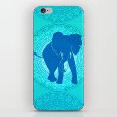 Turquoise Elephant  iPhone & iPod Skin