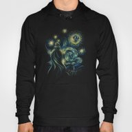 Death Starry Night Hoody