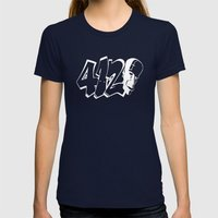 BLANKM GEAR - FOUR ONE D… Womens Fitted Tee Navy SMALL