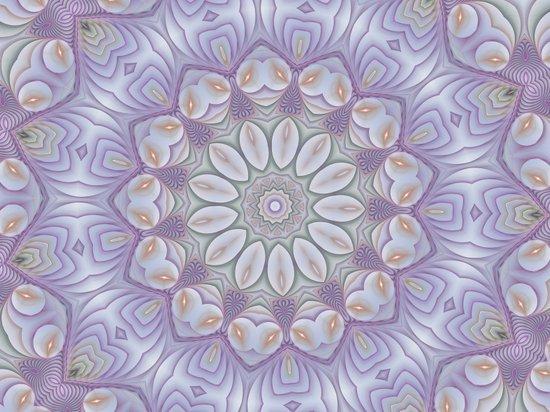 Mandala floral Art Print