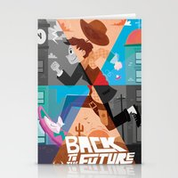 back to the future Stationery Cards featuring back to the future by Susker