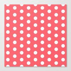Polka Dot Coral Canvas Print